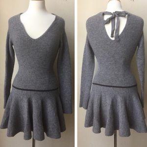 BCBG wool, tieback sweater dress